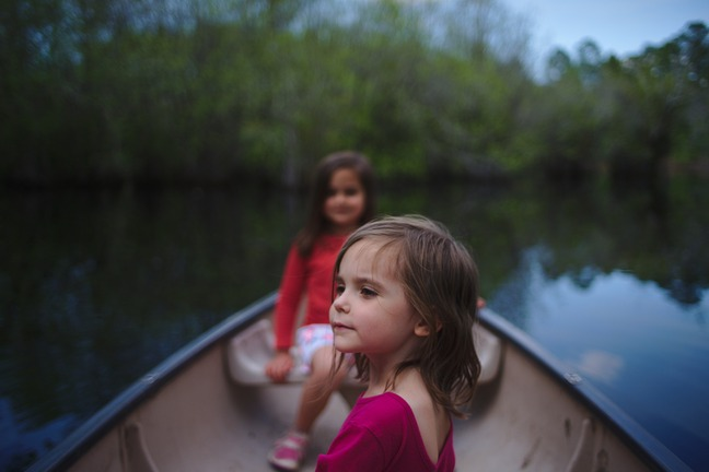 Lilah in canoe photographed by luxagraf