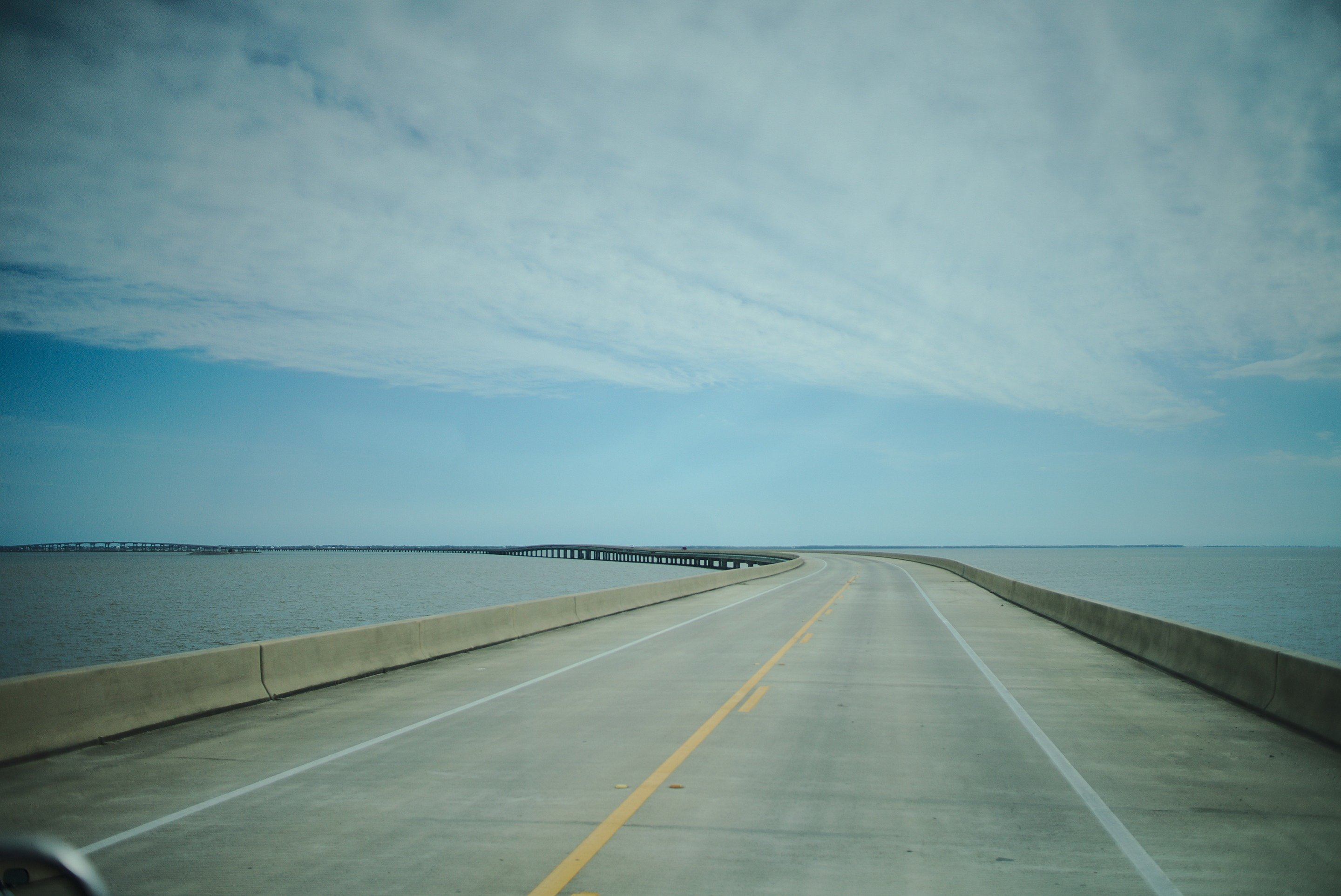 bridge to st george island photographed by luxagraf