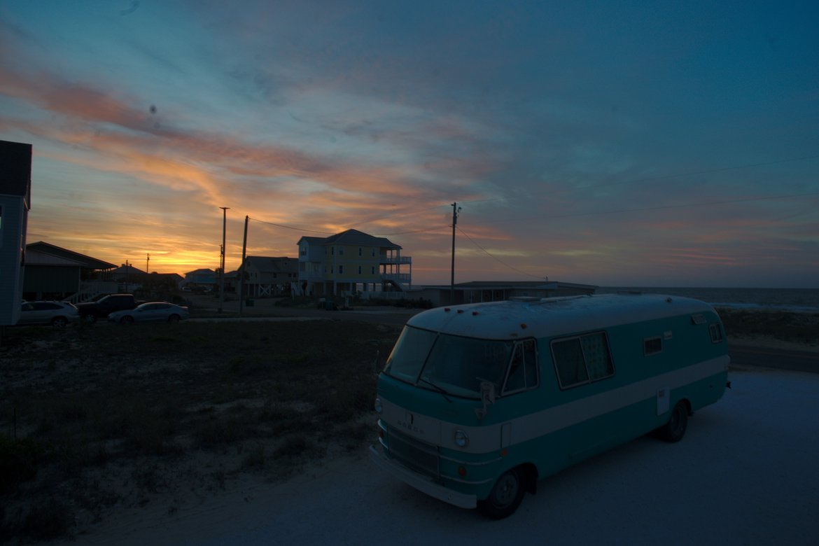 1969 Dodge Travco at St George Island, FL photographed by luxagraf