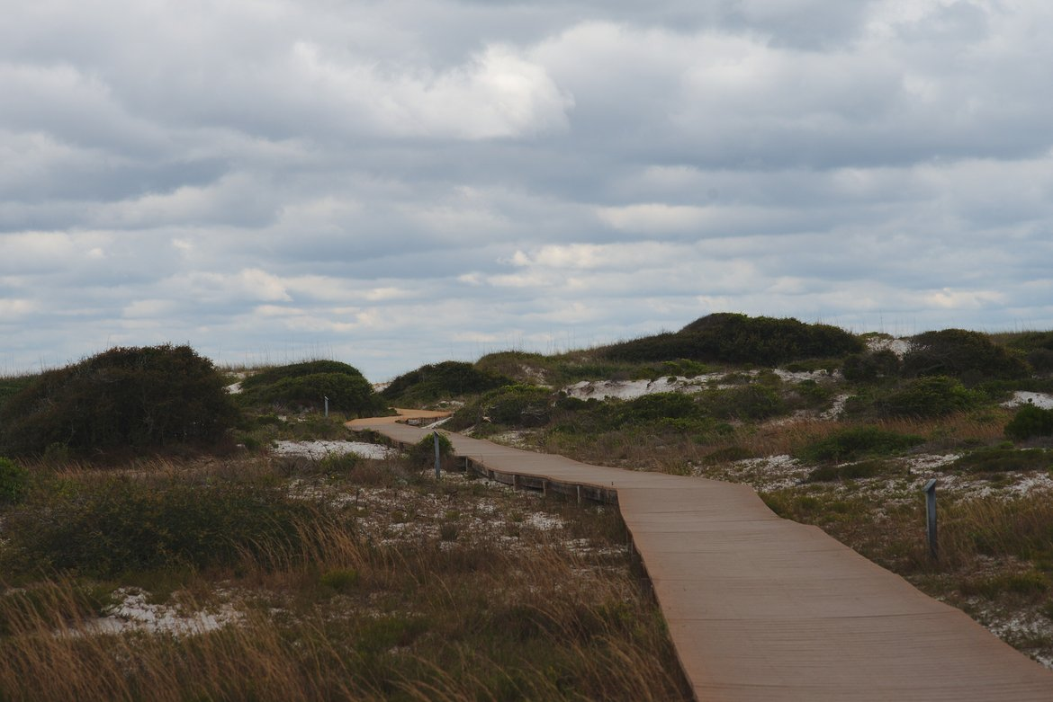 boardwalk fort pickens campground photographed by luxagraf