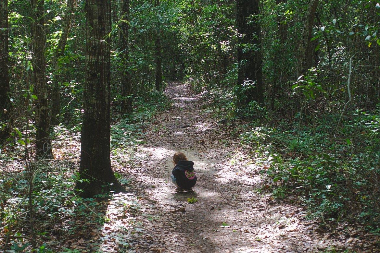 boy on trail, davis bayou photographed by luxagraf