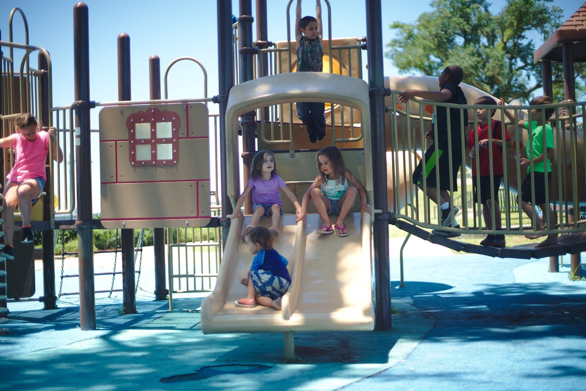 playground, ocean springs, ms photographed by luxagraf