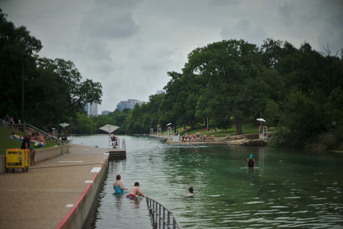 barton springs, austin tx photographed by luxagraf