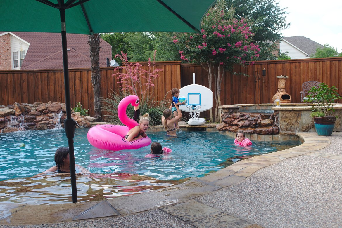 Pool time, Plano TX photographed by luxagraf