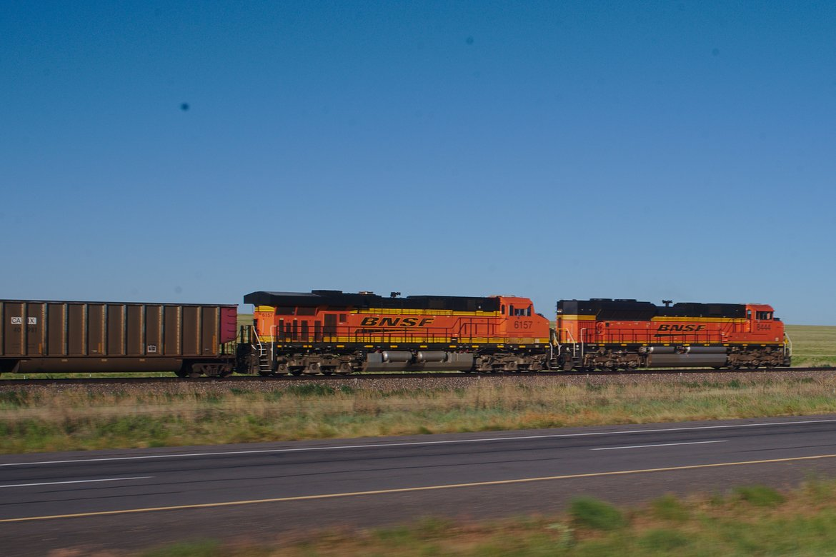 train, new mexico photographed by luxagraf