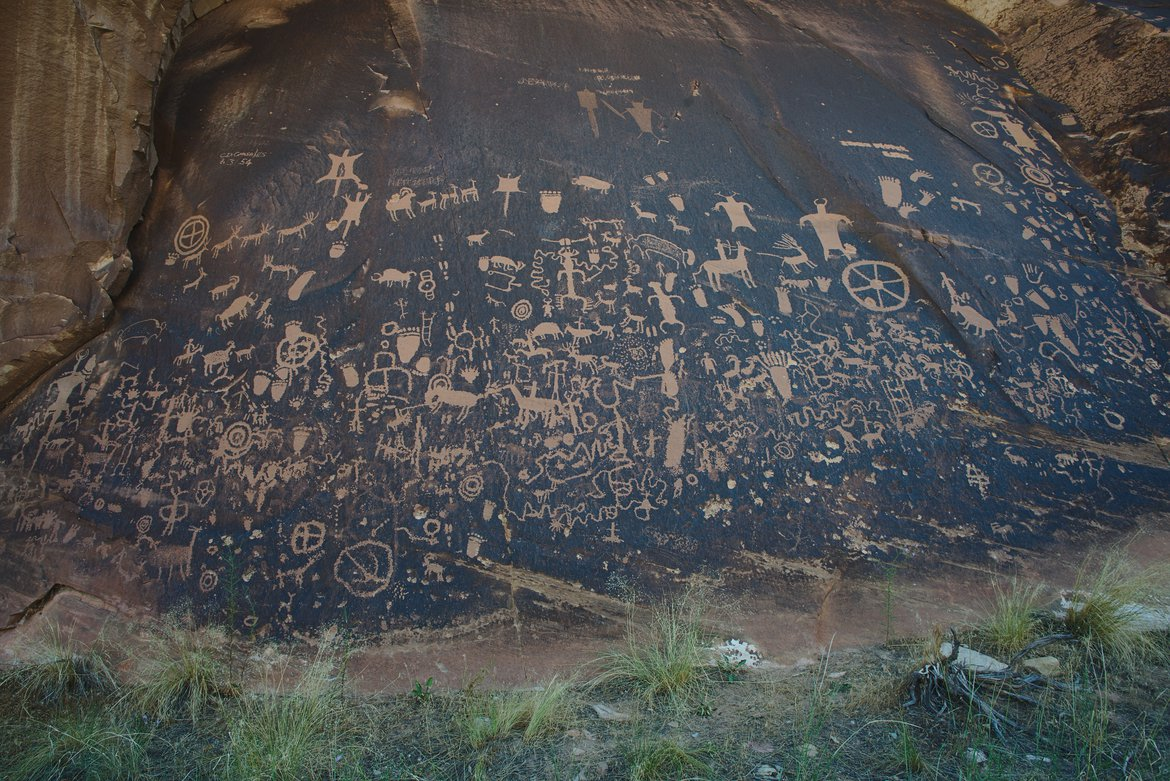 newspaper rock photographed by luxagraf