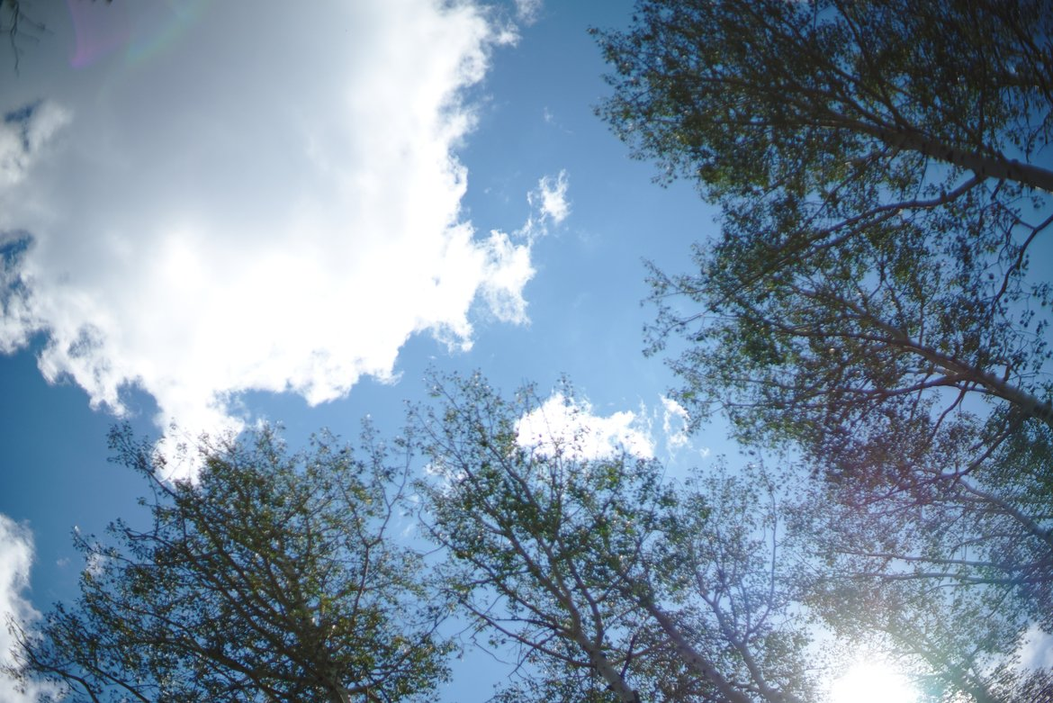 Aspen sky photographed by luxagraf