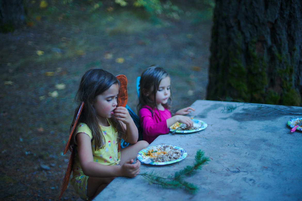 dinner in the trinity alps photographed by luxagraf