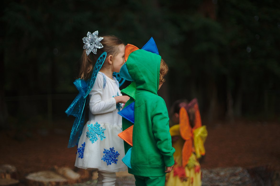 fairies and a dragon photographed by luxagraf