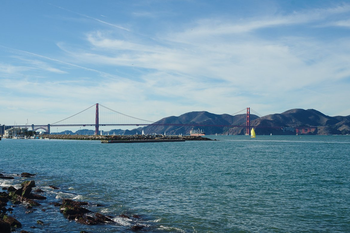 San Francisco bay photographed by luxagraf
