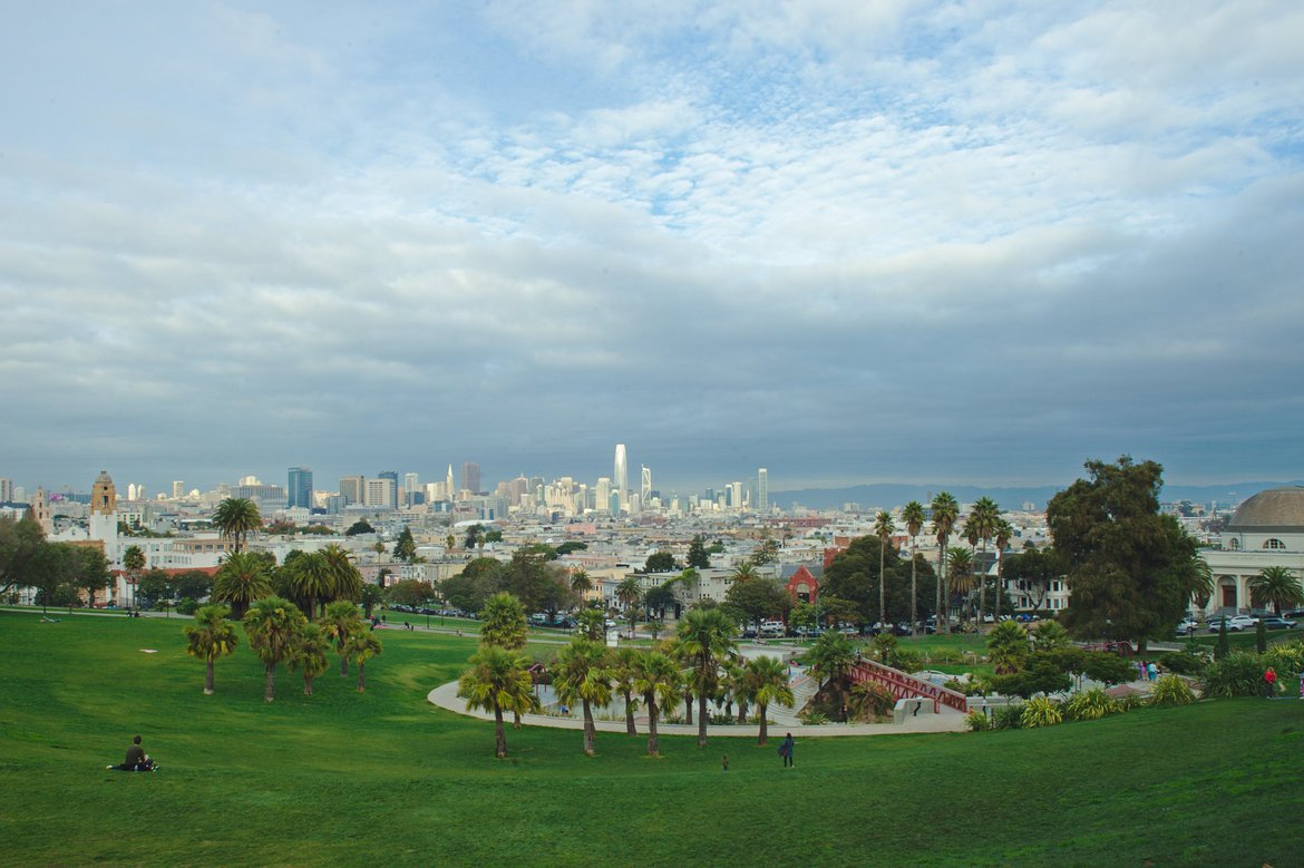 Dolores Park photographed by luxagraf