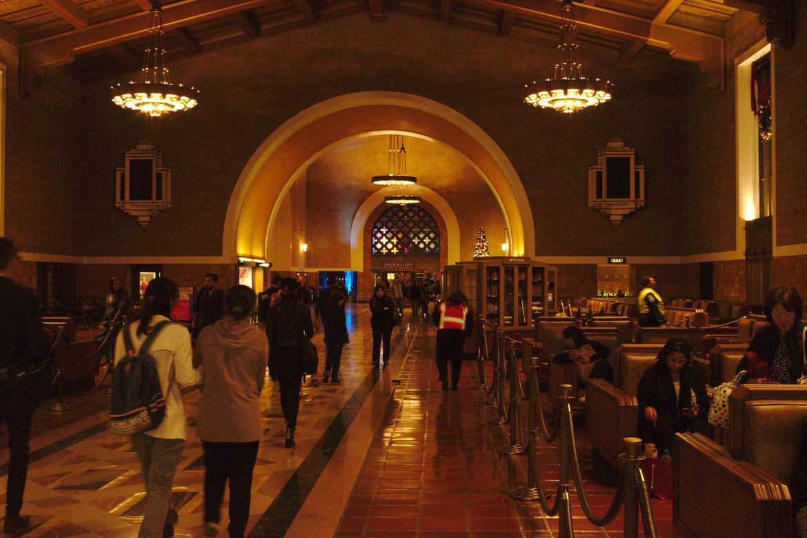 Union Station, Los Angeles photographed by luxagraf