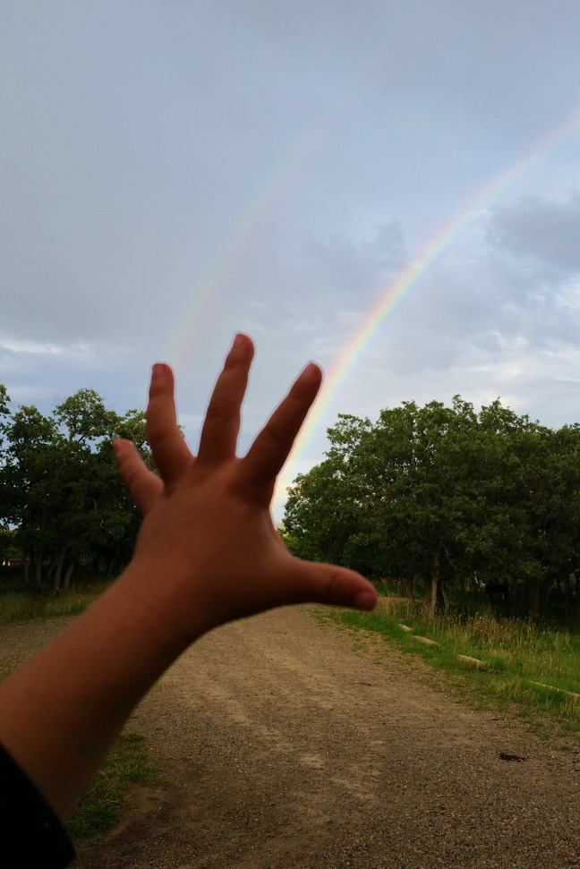 grab the rainbow photographed by luxagraf