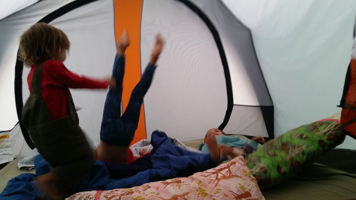 playing in the tent photographed by luxagraf