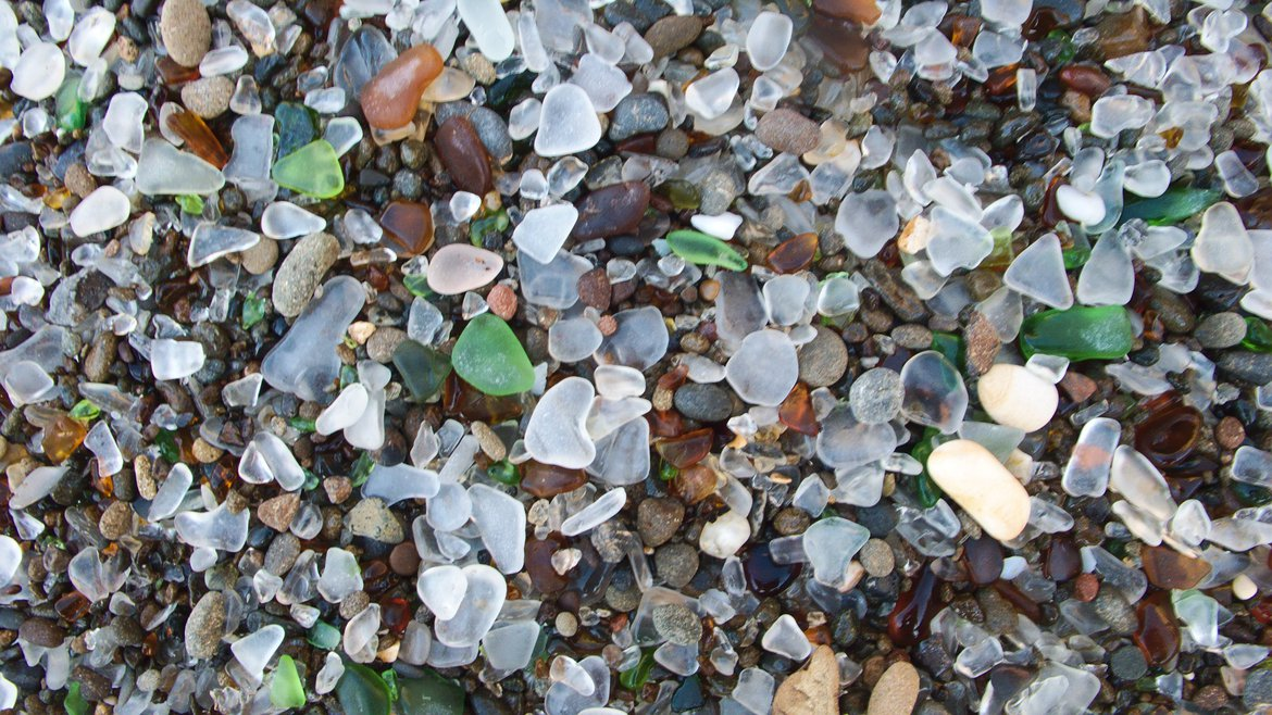 glass beach back in the day photographed by luxagraf