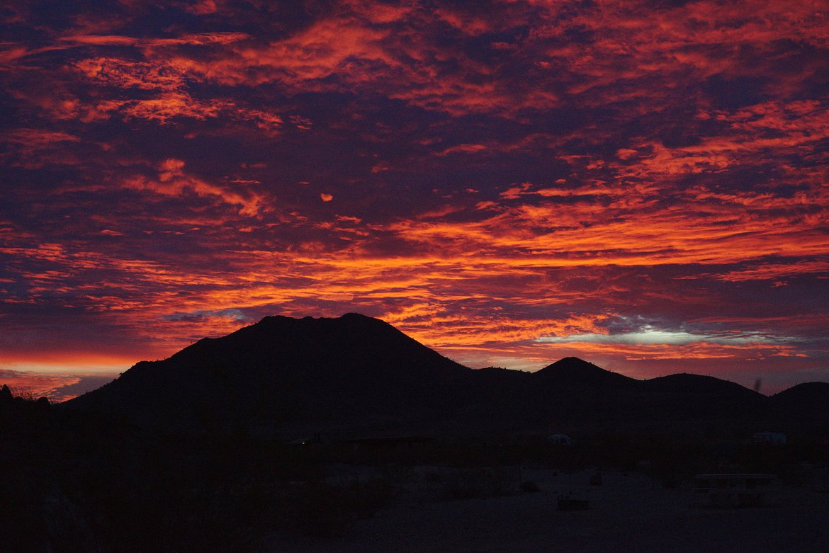 Sunrise, Painted Rocks BLM area photographed by luxagraf