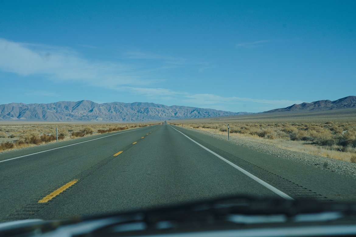 The open road photographed by luxagraf