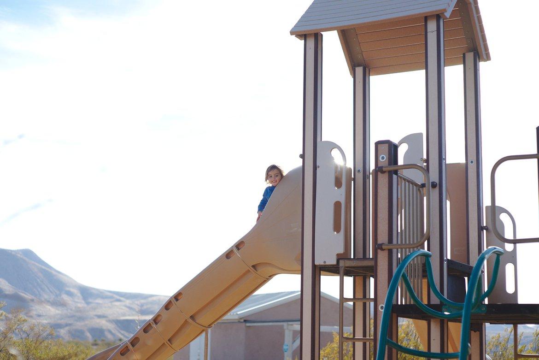 Playground, Leasburg Dam, NM photographed by luxagraf