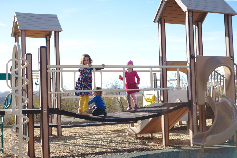 Playground, Leasburg Damn, MN photographed by luxagraf