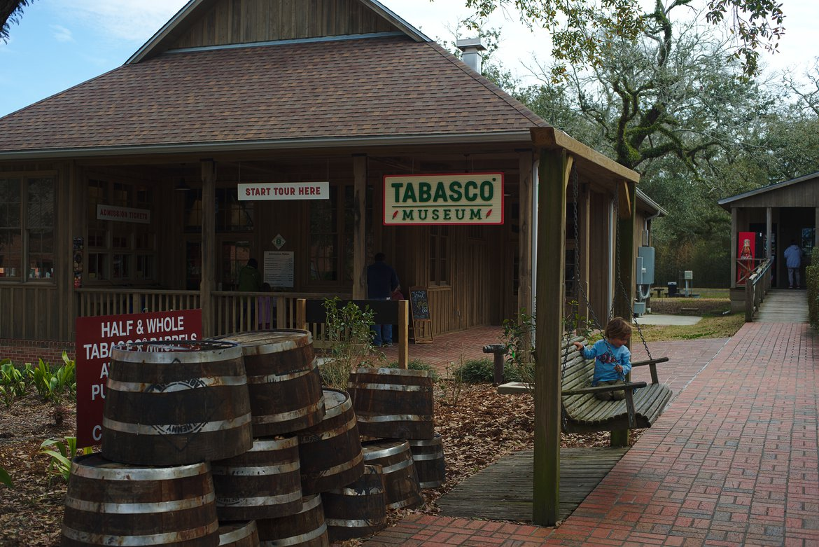Tabasco factory, Avery Island photographed by luxagraf
