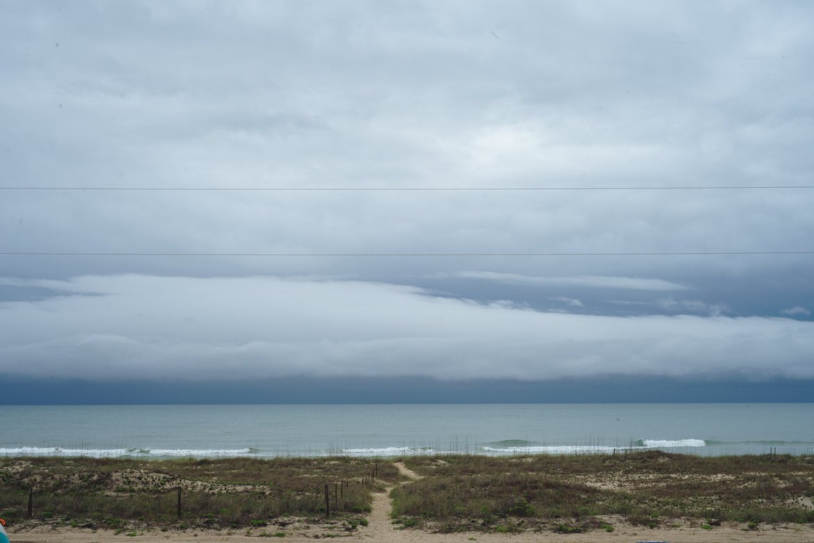 Dark storm clouds, St George Island, FL photographed by luxagraf