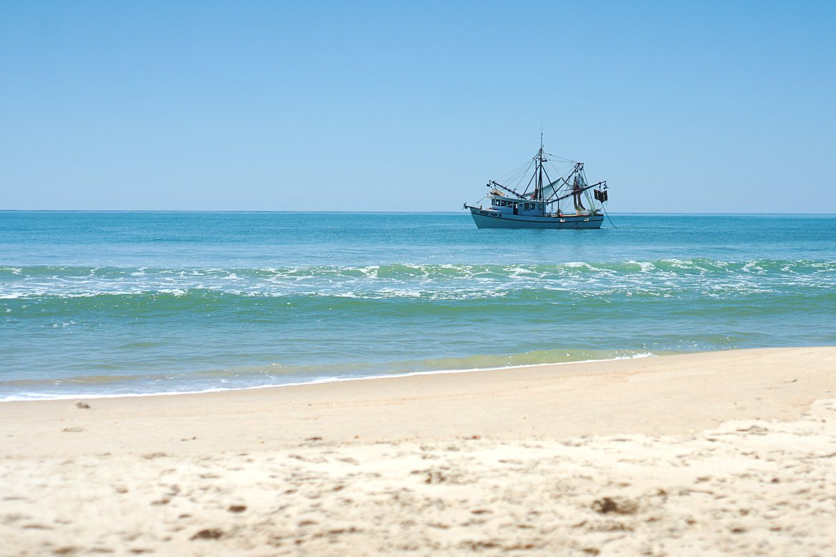 Fishing boat, St George Island, FL photographed by luxagraf