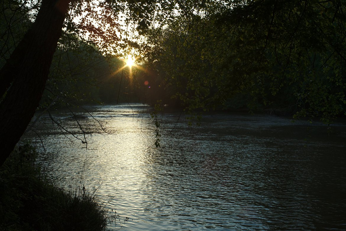 Sunrise on the river, Athens, GA photographed by luxagraf