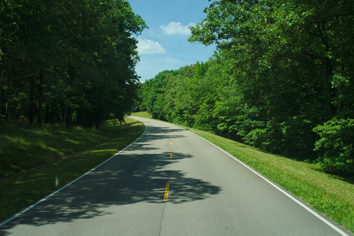 Natchez Trace Parkway photographed by luxagraf
