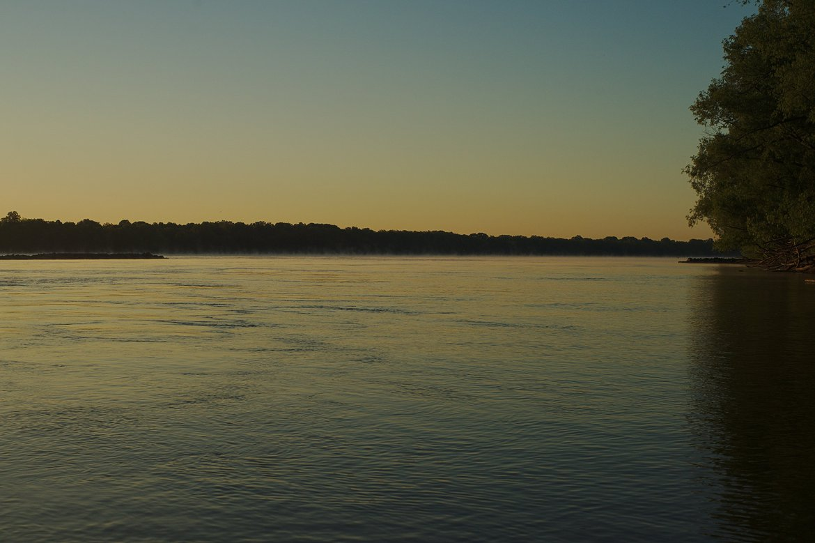 mississippi river, trail of tears state park, IL photographed by luxagraf