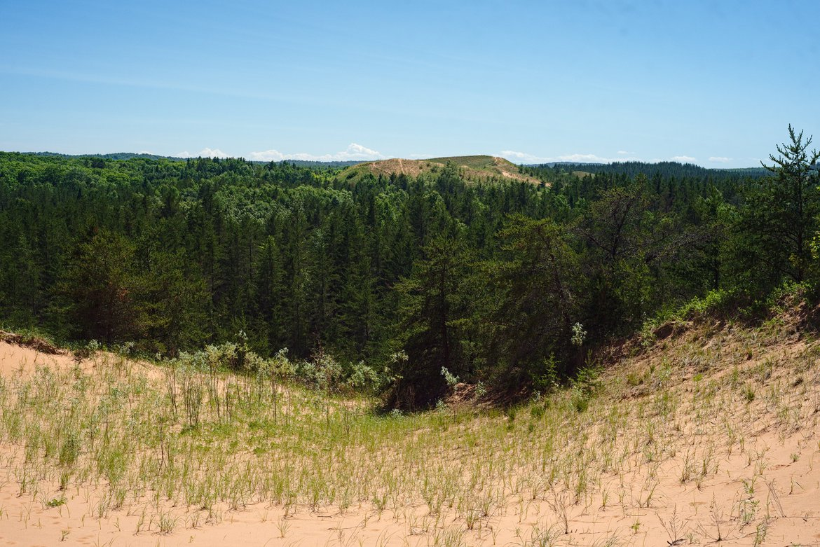 Sand dunes, Pictured Rocks National Lakeshore, MI photographed by luxagraf