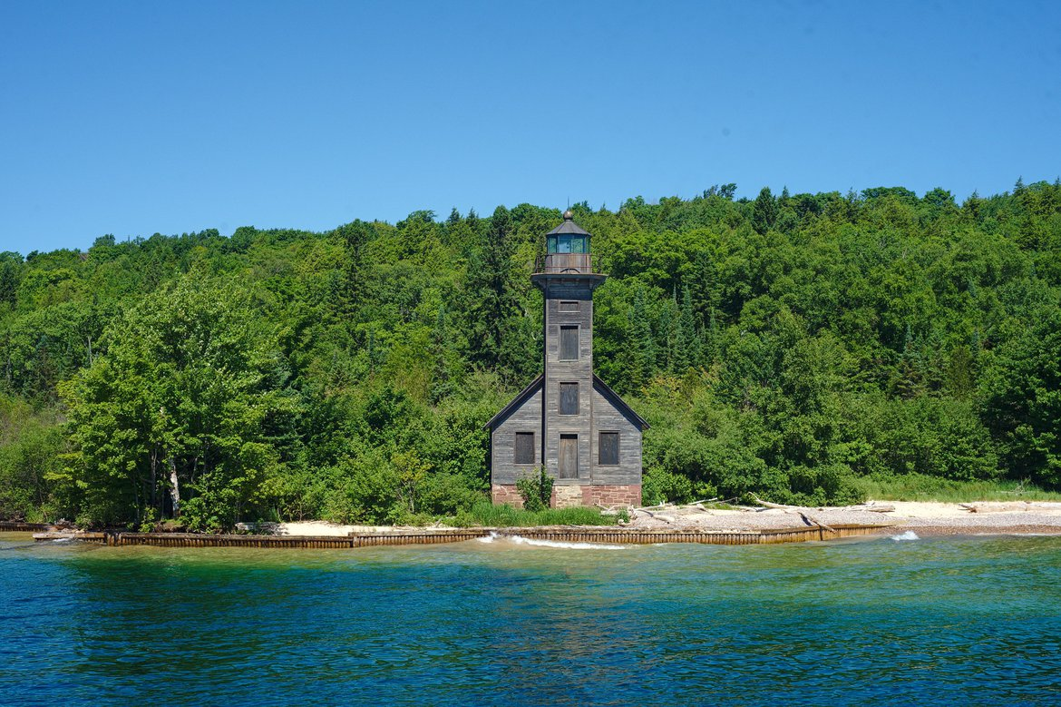 Lighthouse, Pictured Rocks National Lakeshore, MI photographed by luxagraf