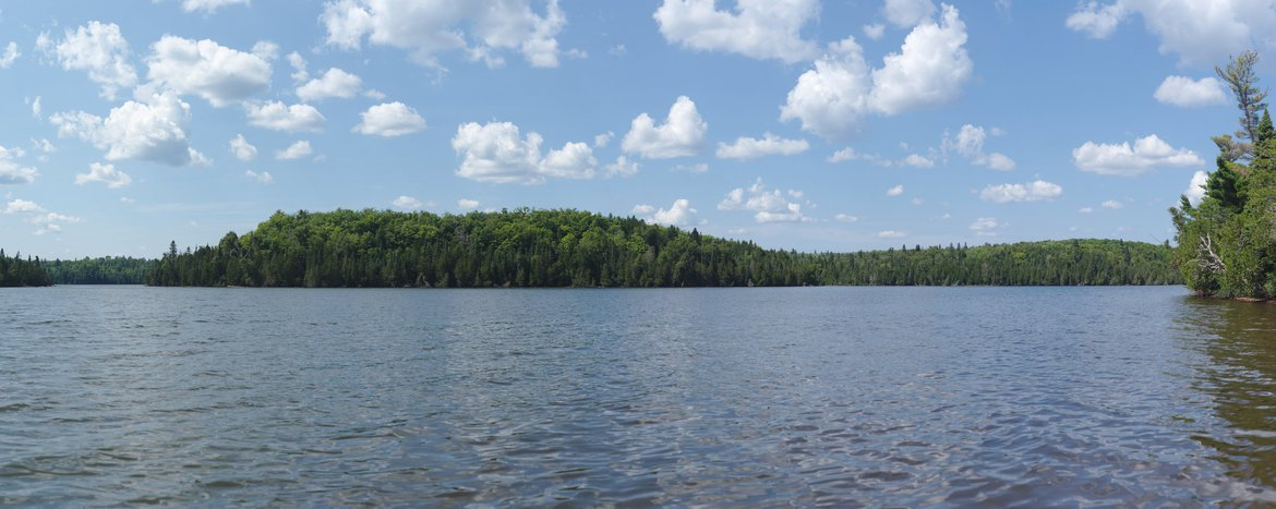 nine mile lake, MN photographed by luxagraf