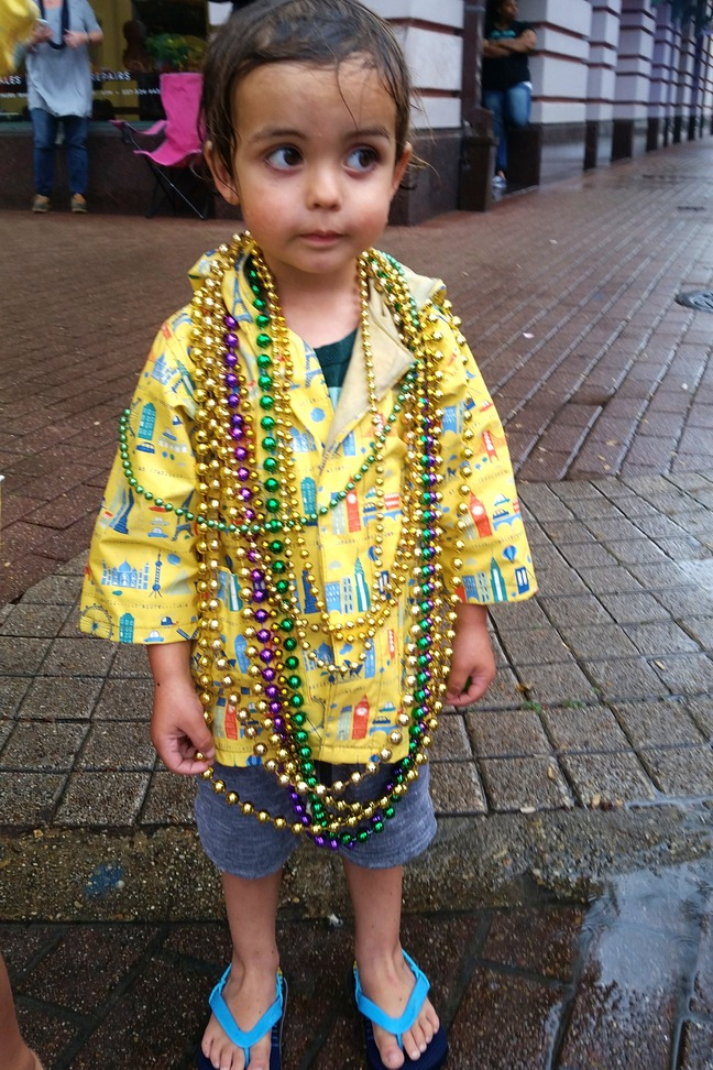 mardi gras children's parade lafayette, la photographed by Corrinne Gilbertson
